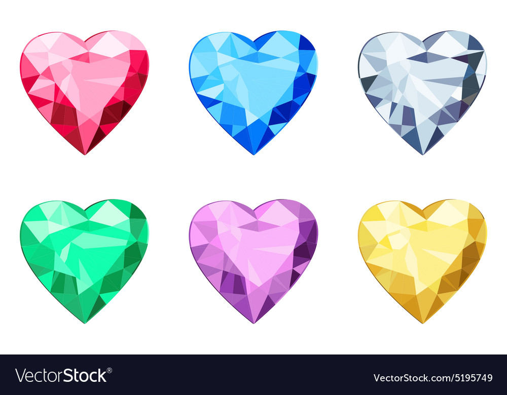 Heart shaped brilliants no gradients