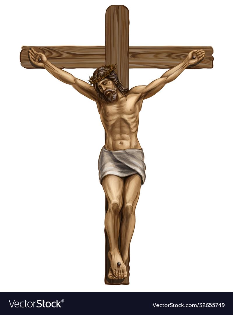 Jesus christ crucified on cross