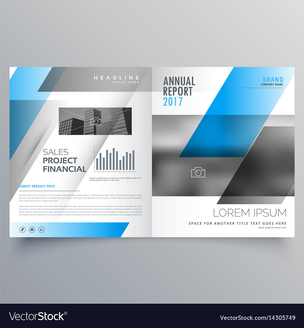 Bi Fold Brochure Template | Modern Business Bifold Brochure Template With Vector Image