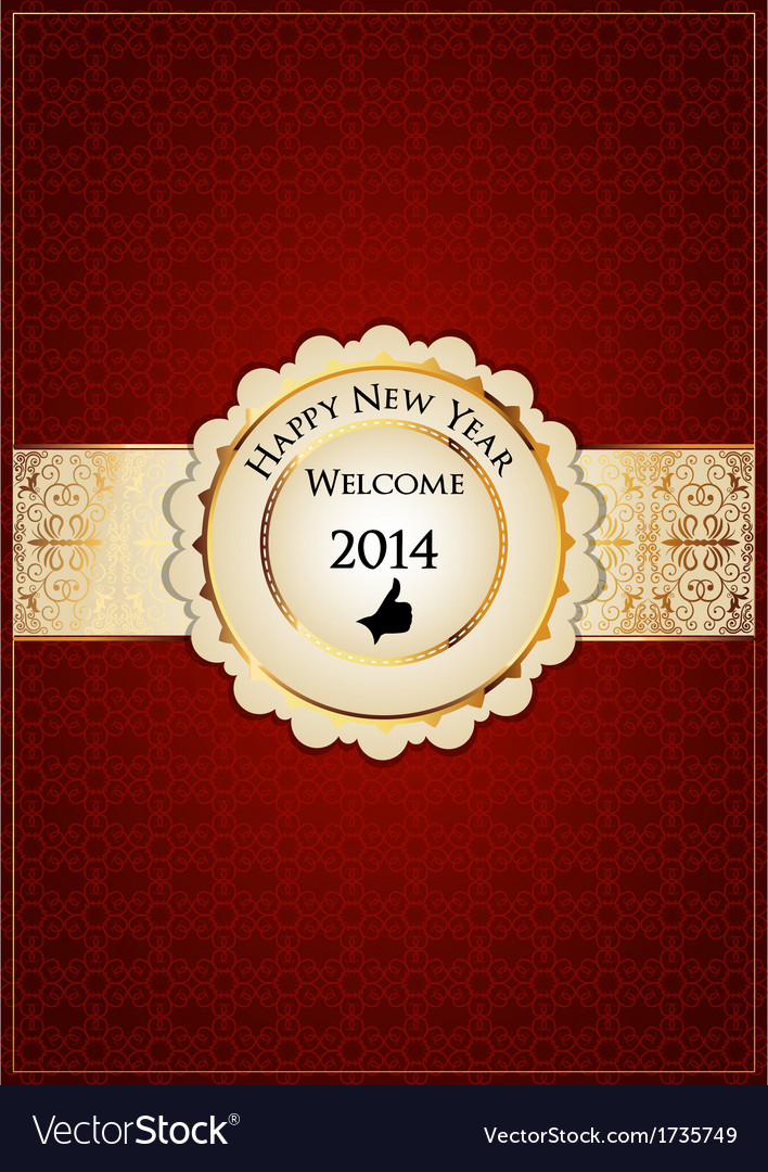 Red new year card