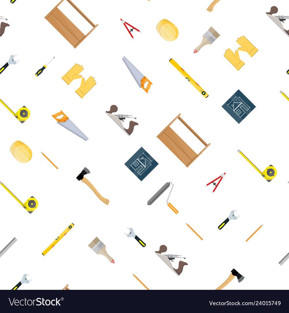 Seamless construction tools set pattern