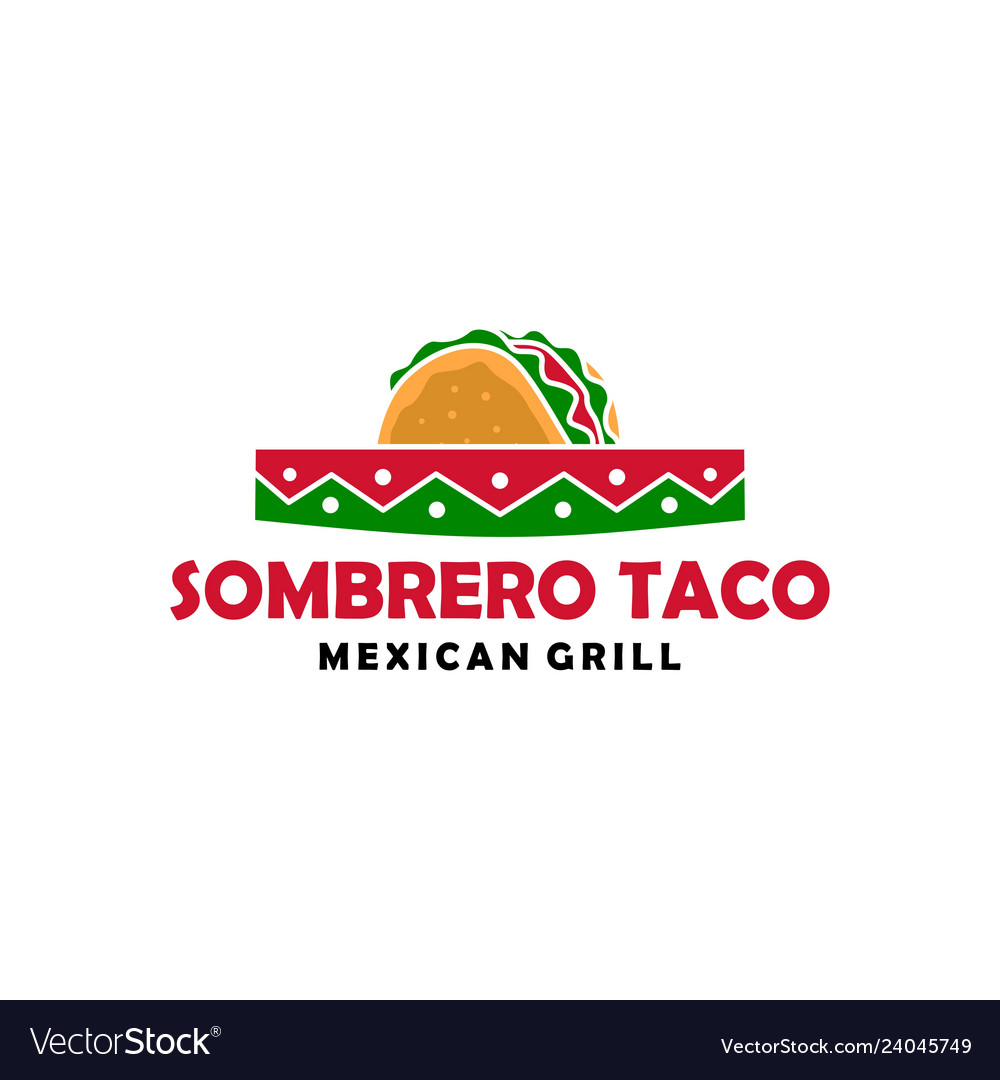 Sombrero hat taco logo icon