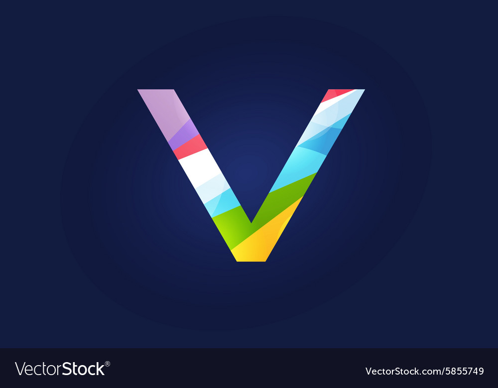 V letter logo icon symbol
