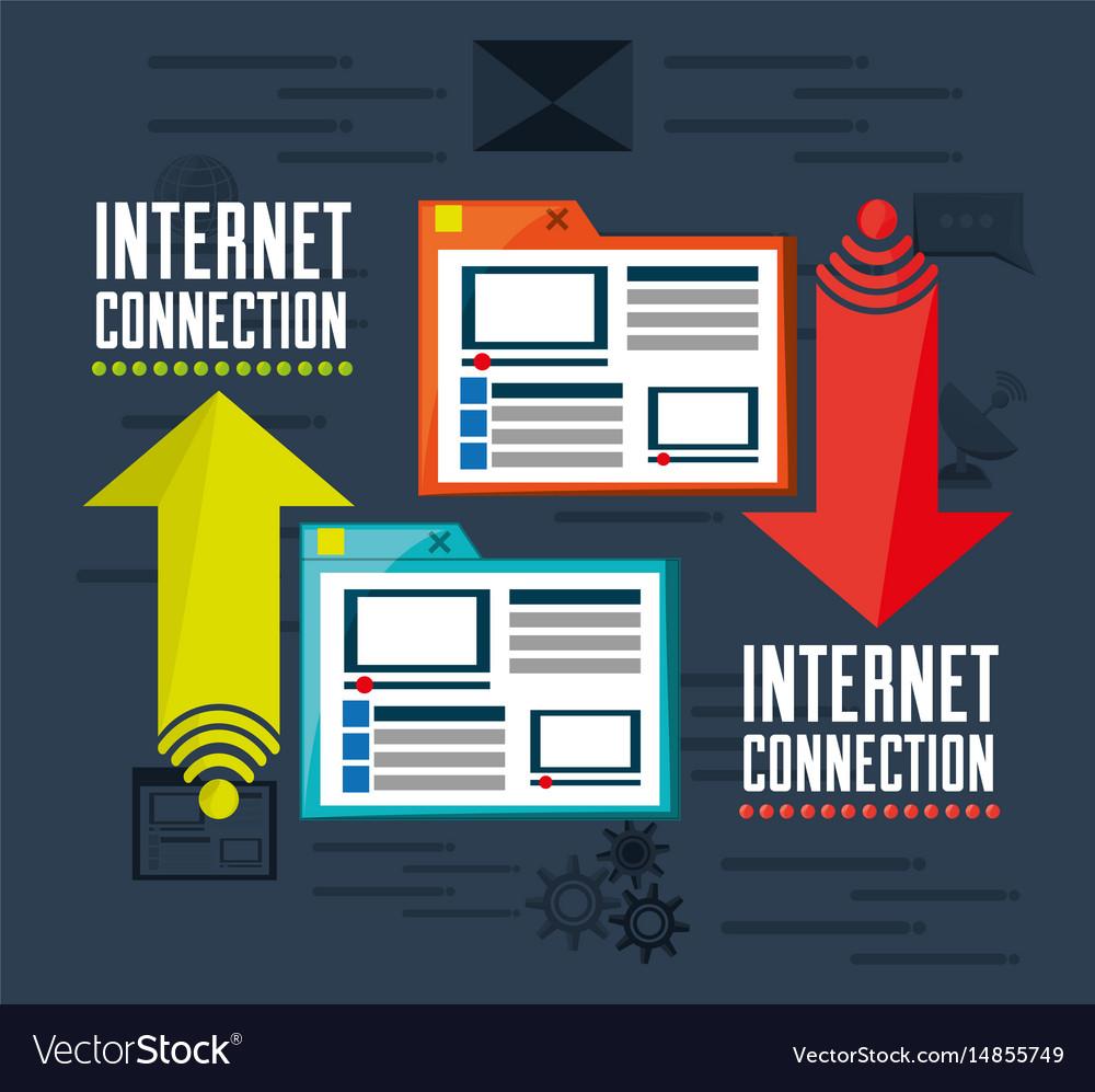 Website platform related with internet vector image