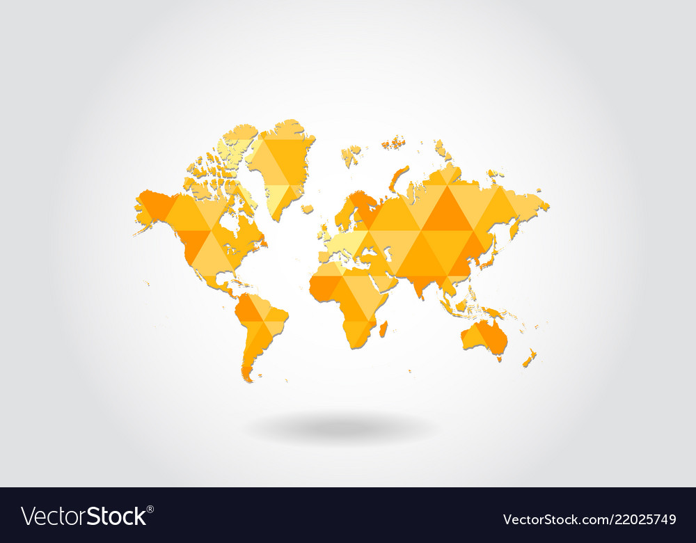 World map in geometric polygonal styleabstract Vector Image