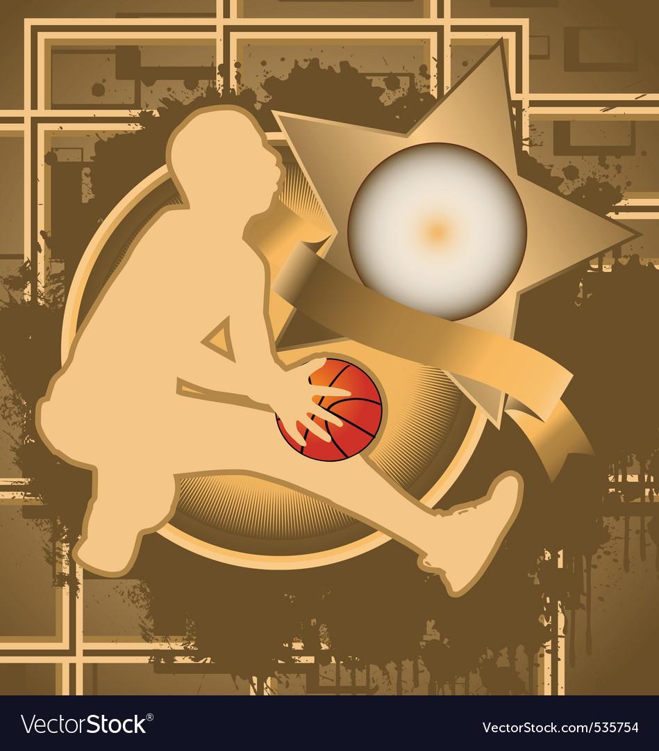 Basketball vintage design