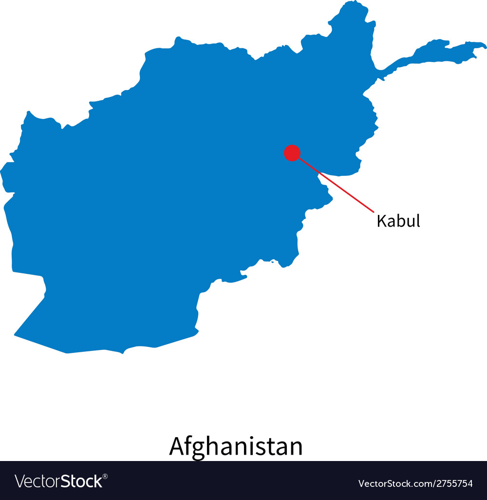 Detailed map of Afghanistan and capital city Kabul