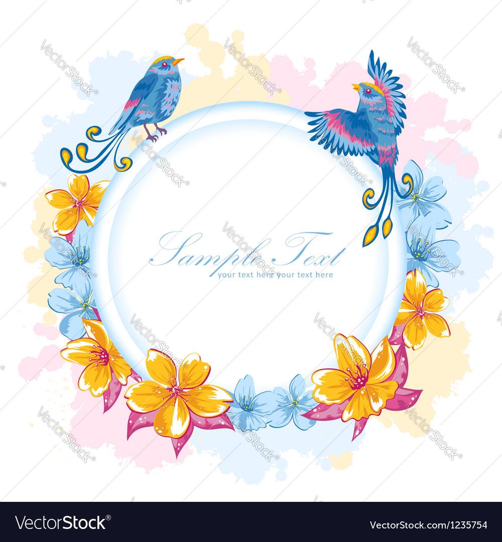 Elegant colorful flower invitation postcard