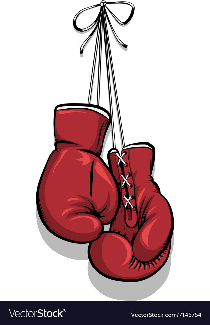 hanging boxing gloves royalty free vector image rh vectorstock com boxing glove vector art boxing glove vector art free
