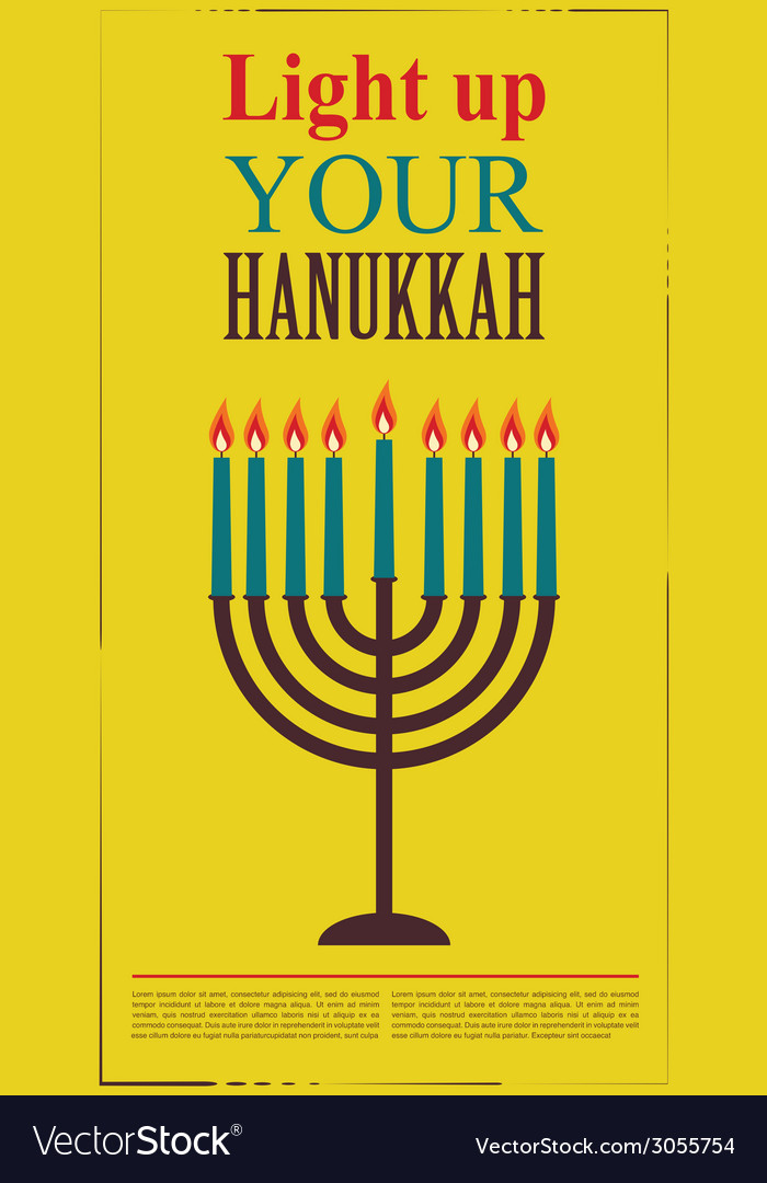 Happy hanukkah greeting card design jewish holiday happy hanukkah greeting card design jewish holiday vector image m4hsunfo