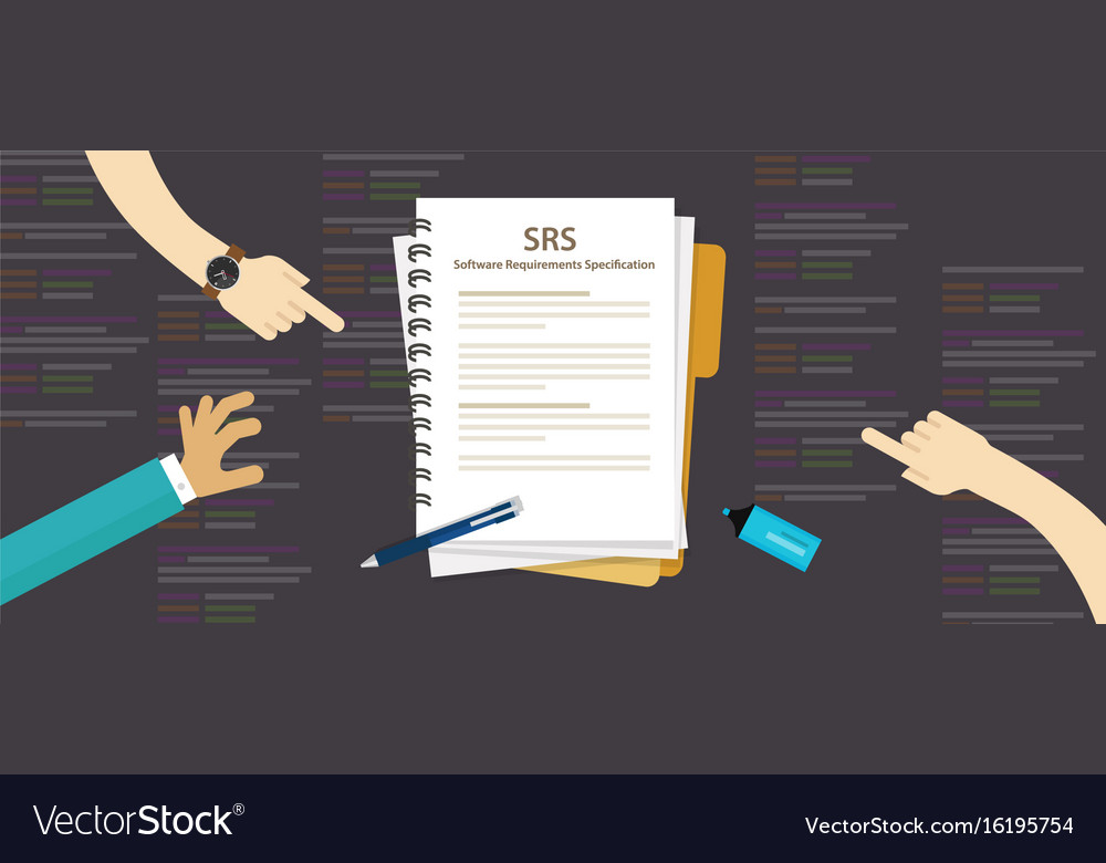 Srs Software Requirements Specification Computer Vector Image - Software requirements
