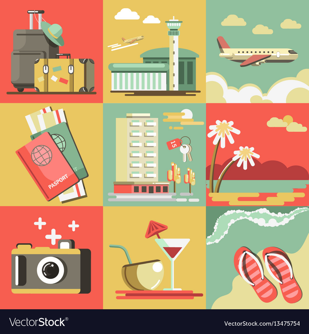 Summer travel or holiday vacation ocean
