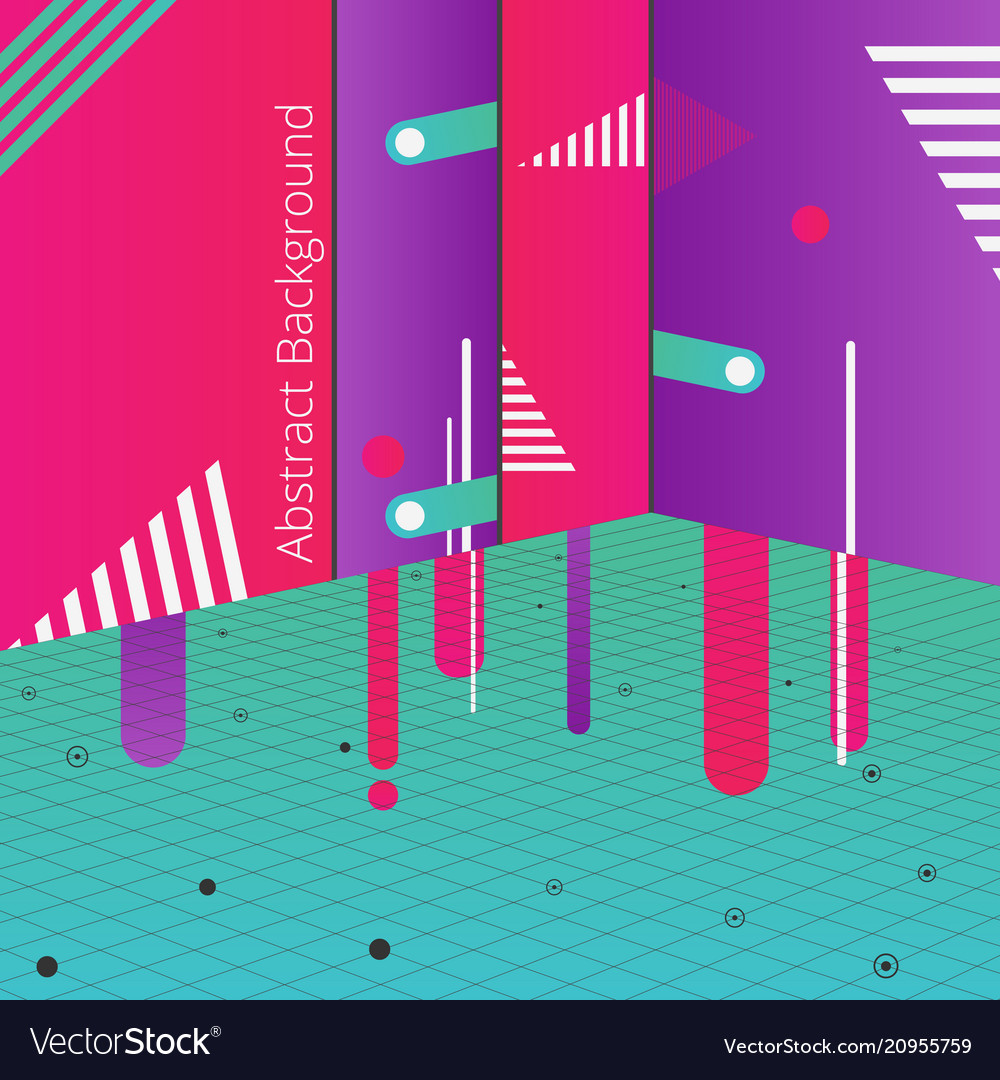 Abstract of night party background in geometric