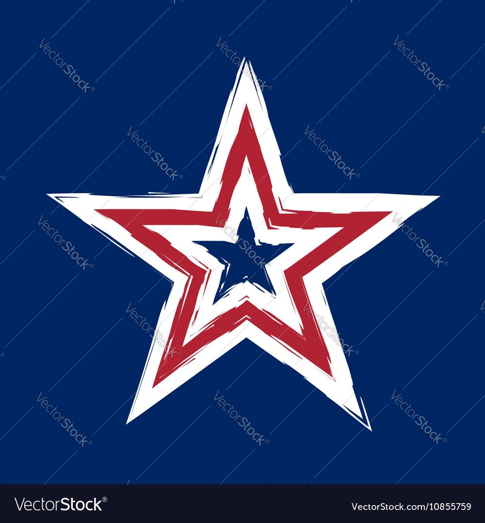 American flag star grunge element symbol