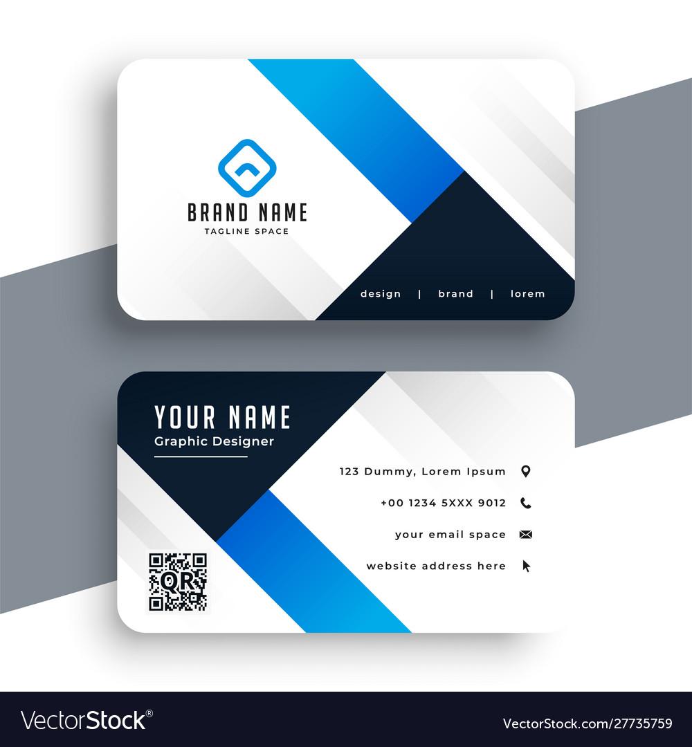 Modern corporate blue business card template