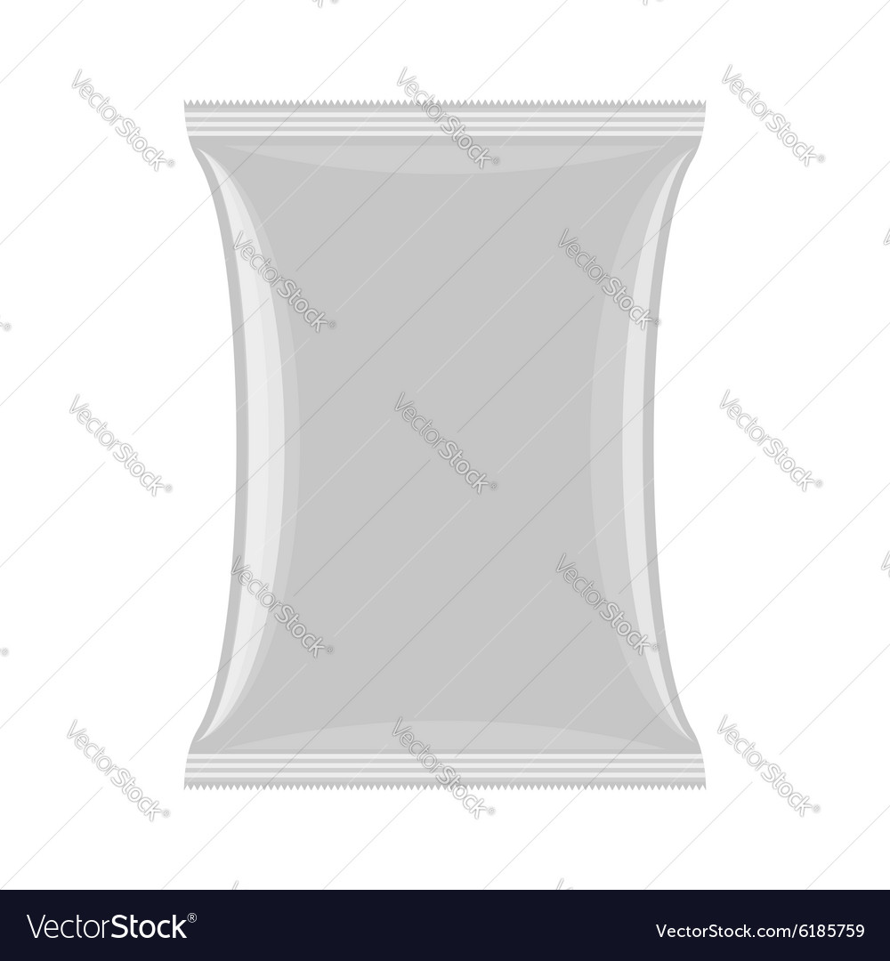 Packaging for chips and snacks Empty pack template vector image