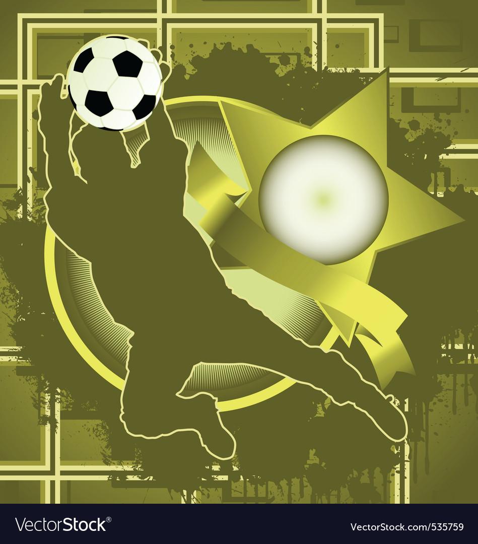 Soccer vintage design