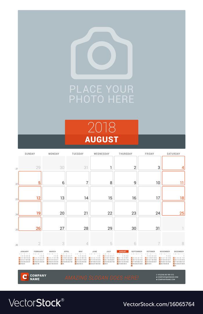 August Calendar Planners December calendar August calendar