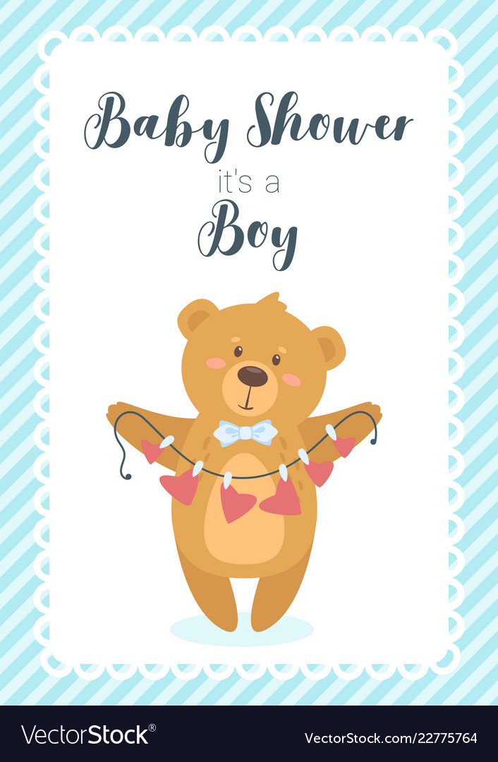 Baby shower design template