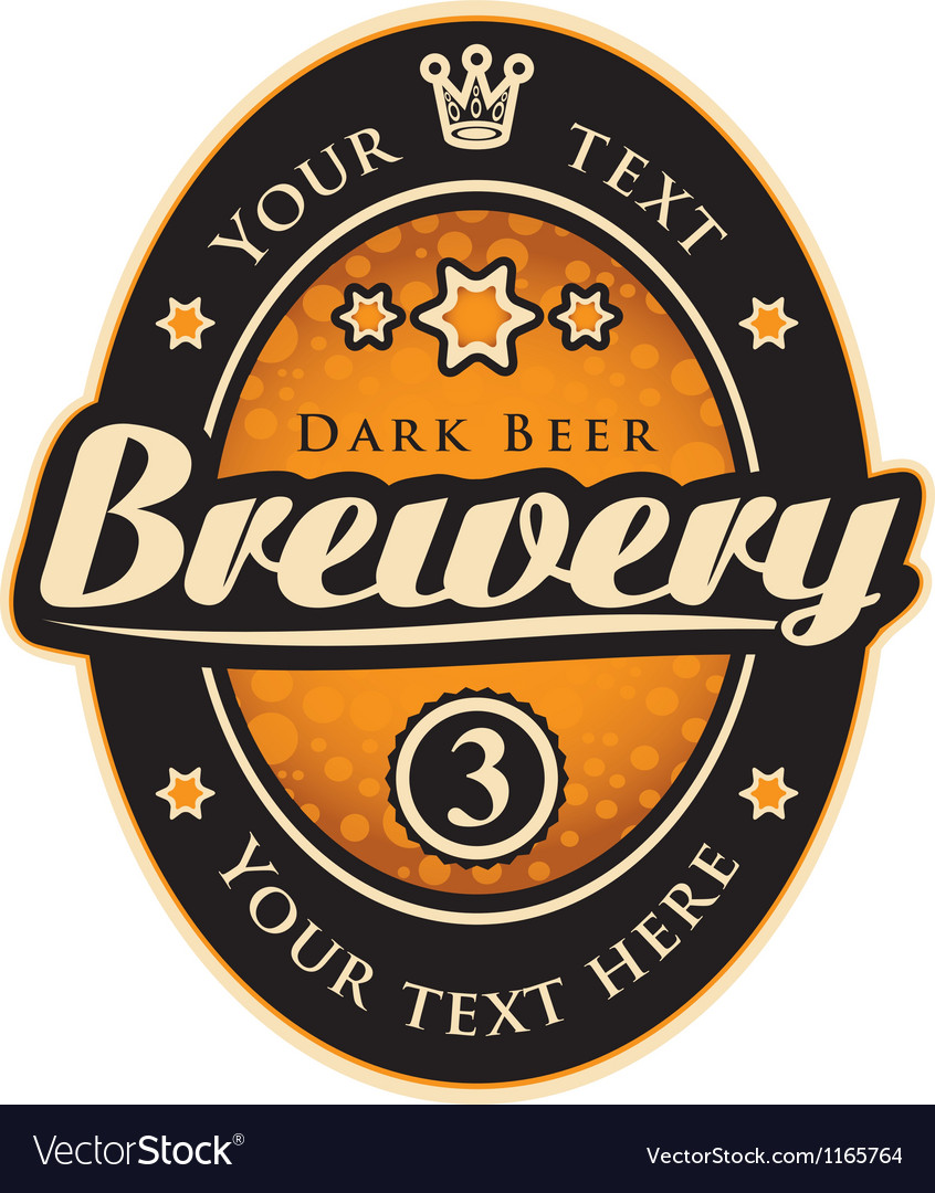 Label with the inscription brewery vector image