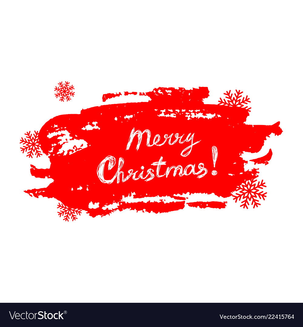 Merry christmas text on grunge red background with