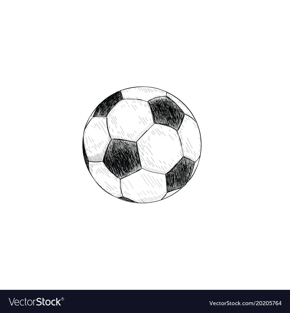 Soccer ball icon soccer ball sketch hand drawing