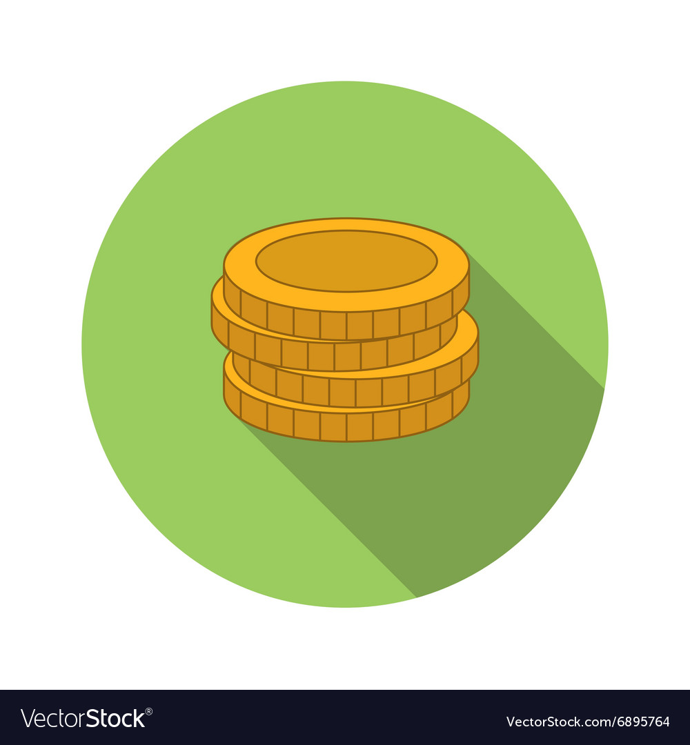 Stack of coins flat icon