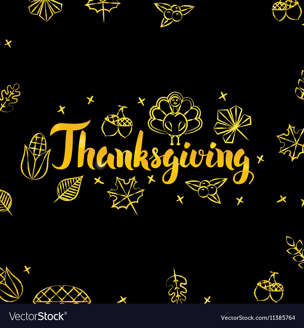 Thanksgiving Gold and Black Design
