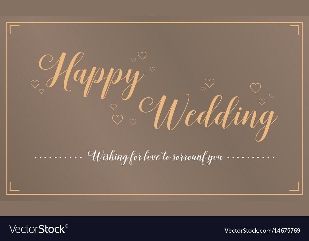 Happy wedding greeting card style royalty free vector image happy wedding greeting card style vector image m4hsunfo