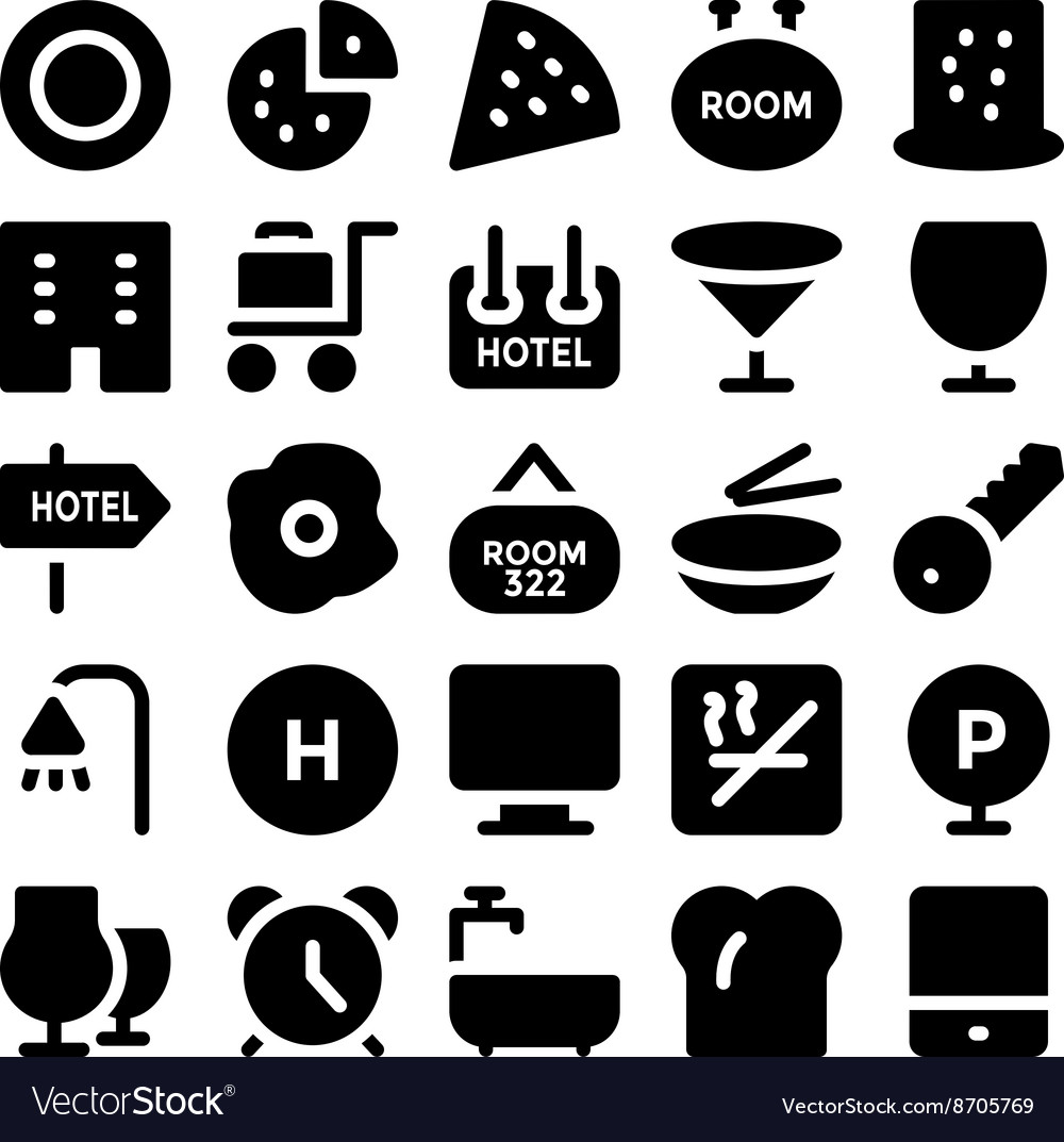 Hotel and Restaurant Icons 11