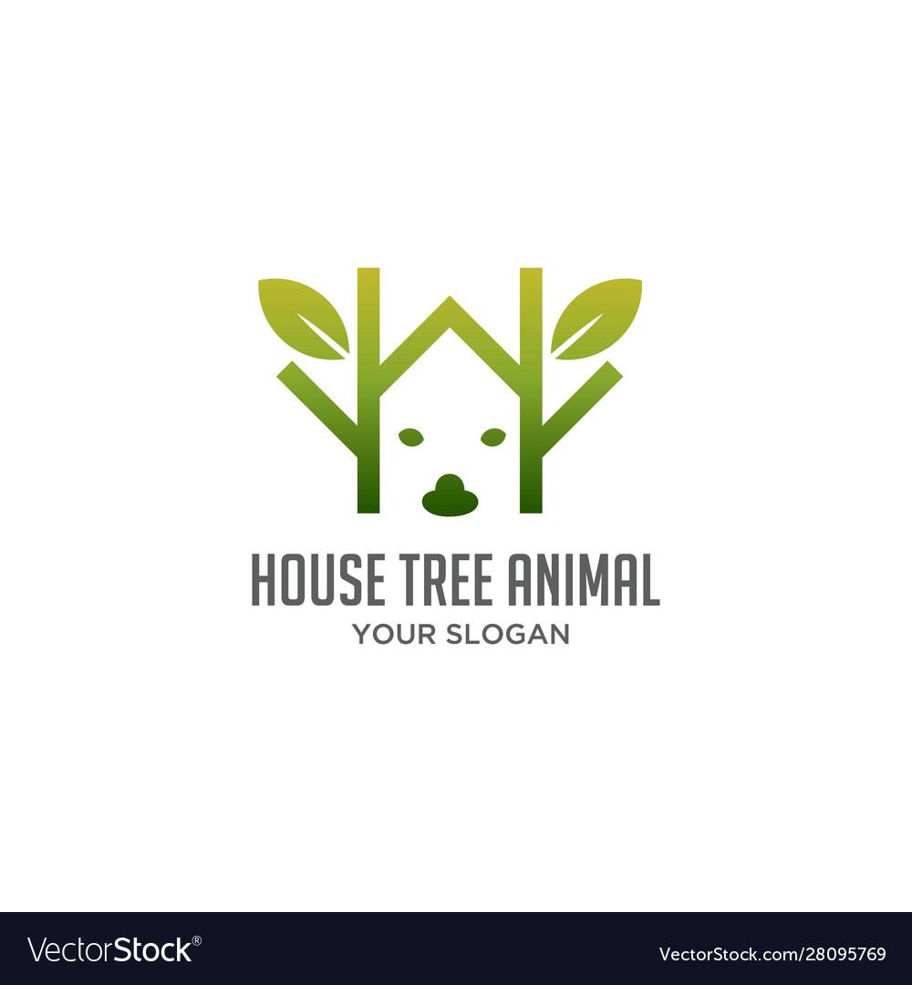 House tree animal logo