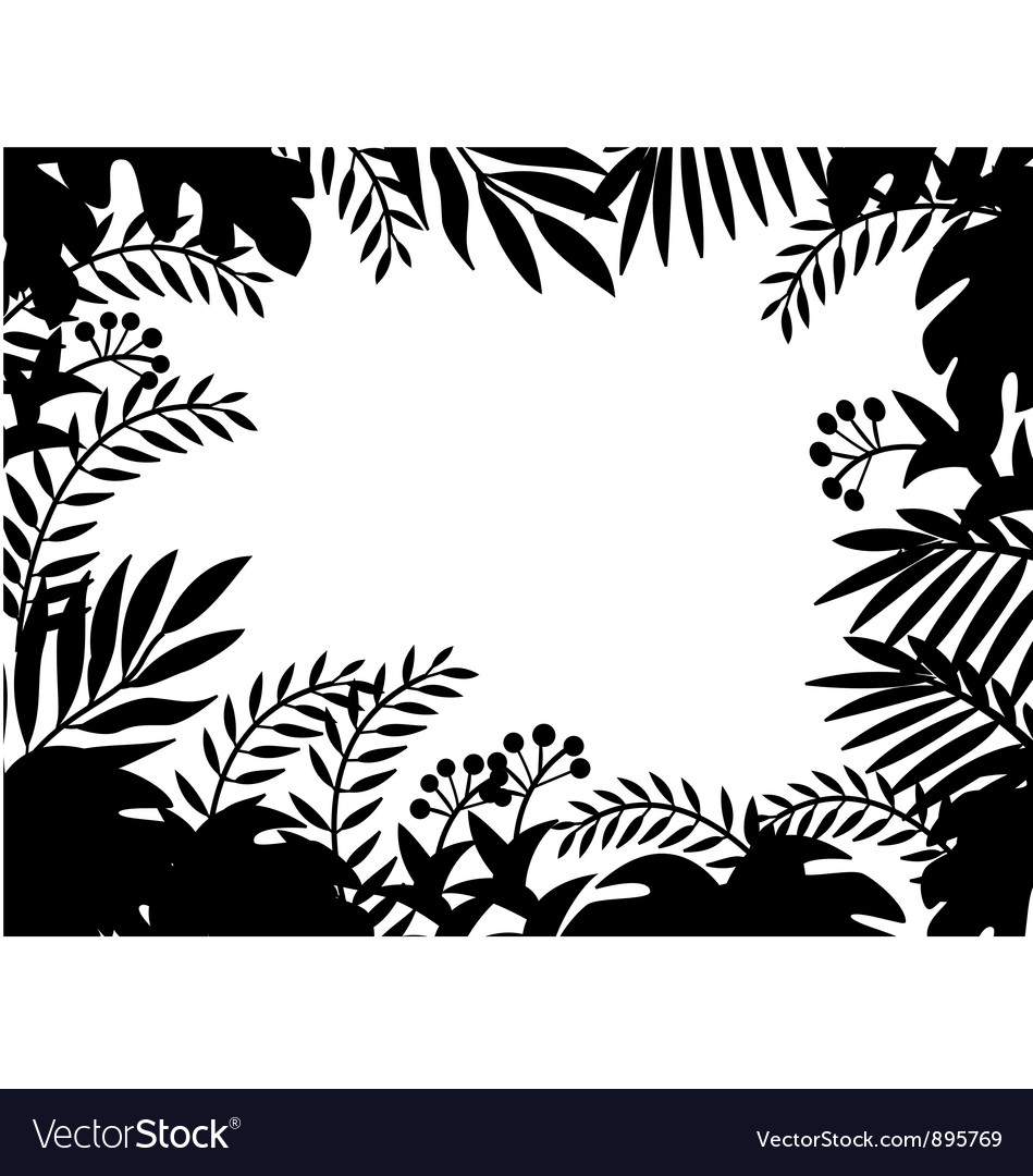 Nature silhouette background vector image