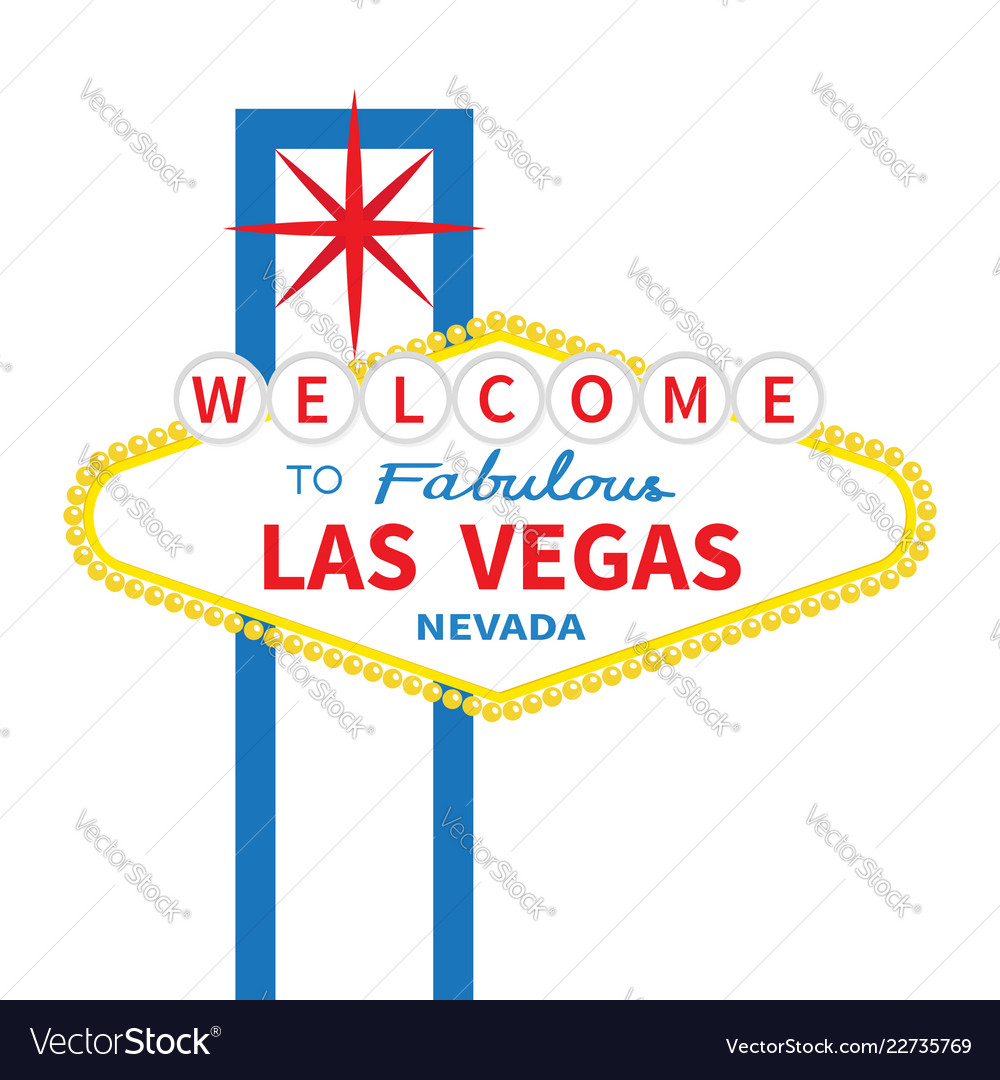 Welcome to fabulous las vegas sign icon classic