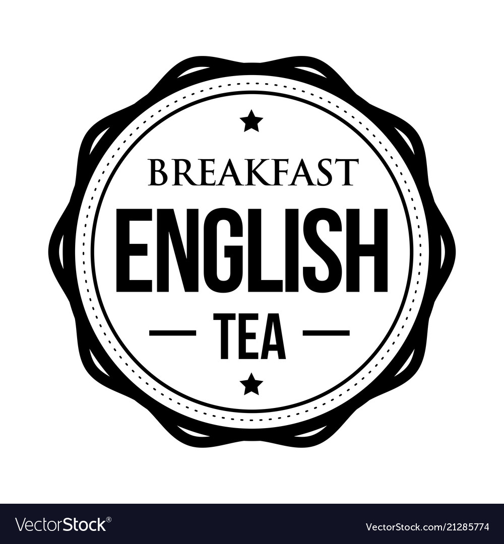 Breakfast english tea vintage stamp vector image on VectorStock