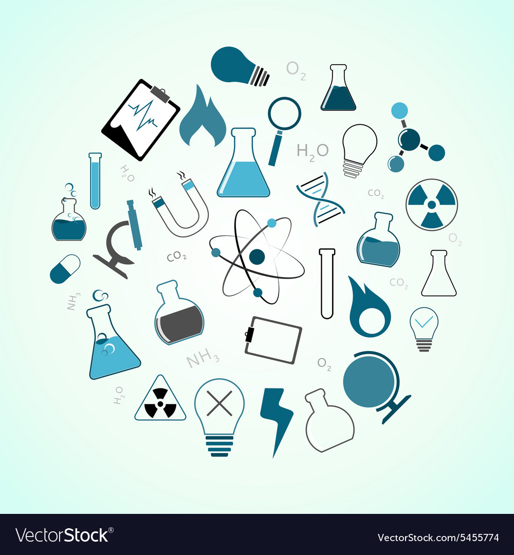 Chemistry science icons