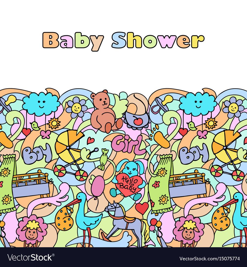 Doodle baby shower mock up