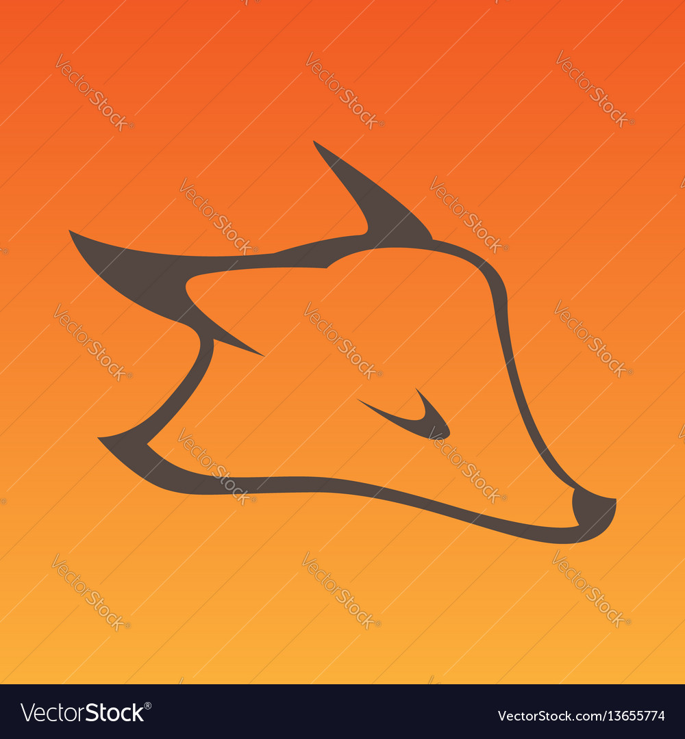 Fox head sign in curve lines