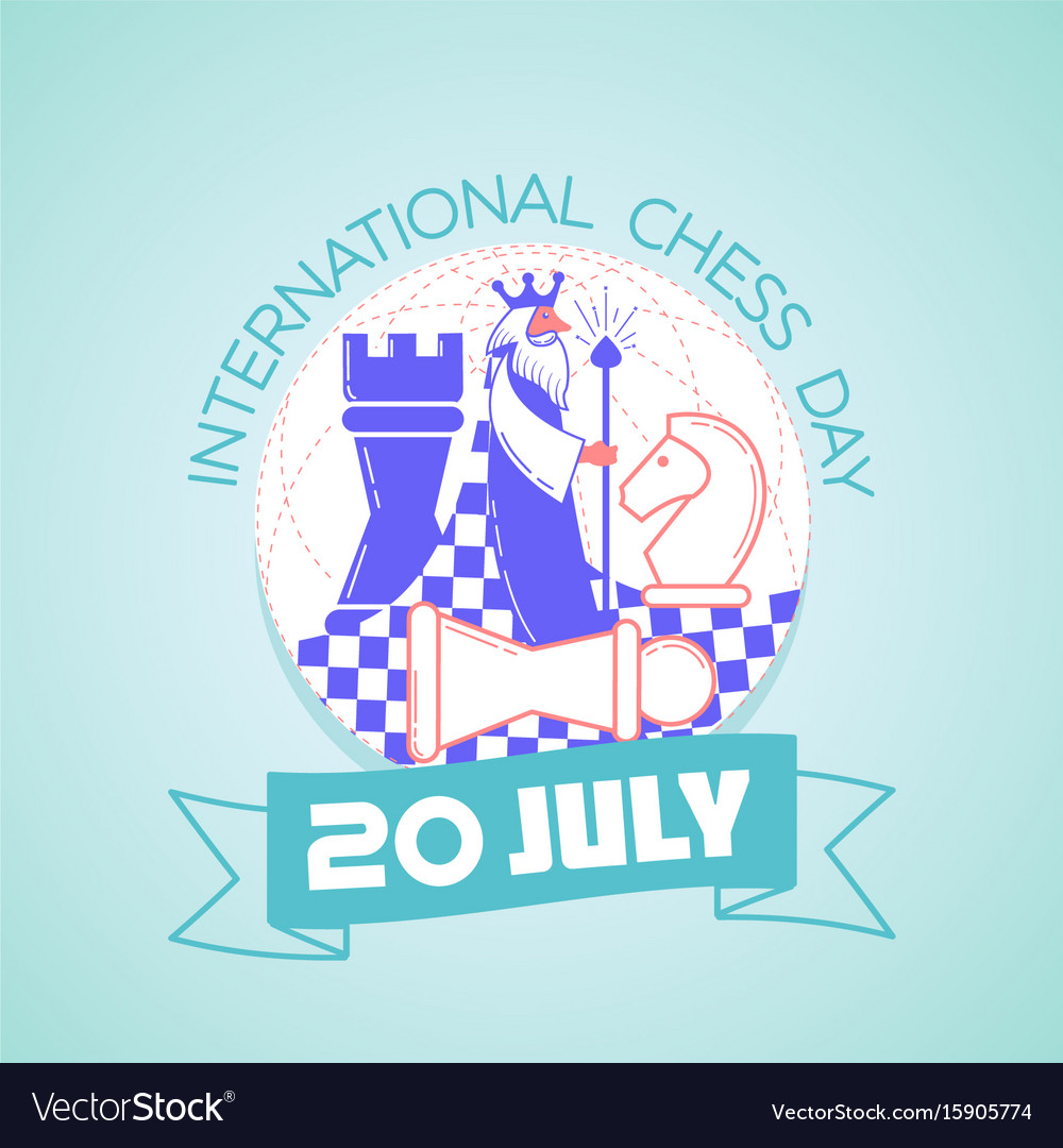 International chess day vector image
