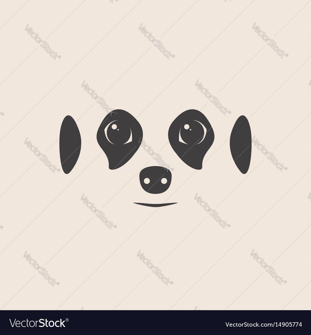 Meerkat face meerkat mascot idea for logo