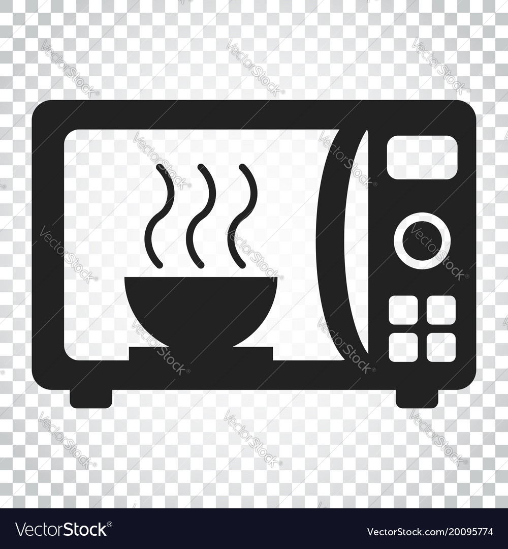 Microwave Oven Symbols: Microwave Flat Icon Microwave Oven Symbol Logo Vector Image