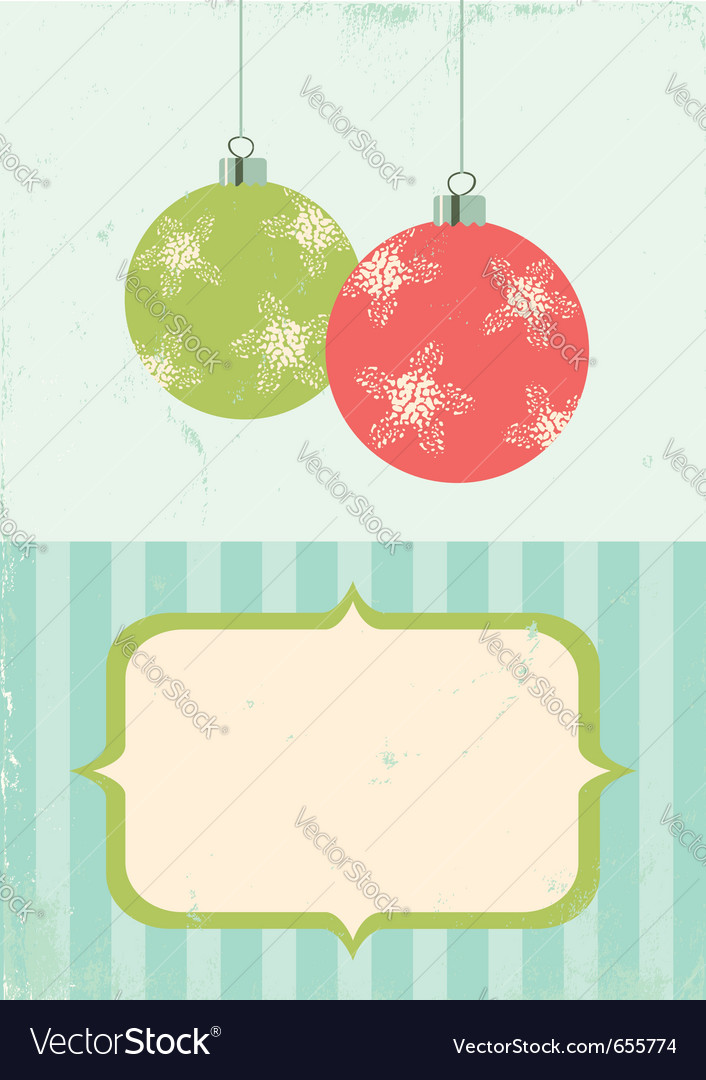 Retro of christmas balls vector image