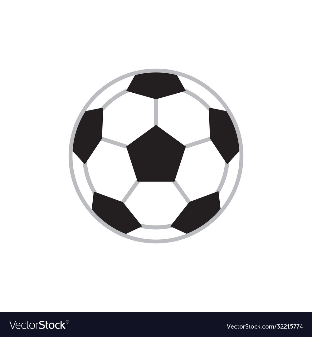 Soccer ball - concept icon in flat design graphic