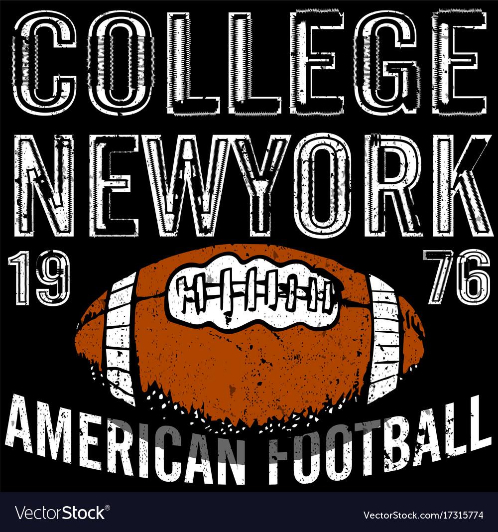 Sport college training typography t-shirt graphics