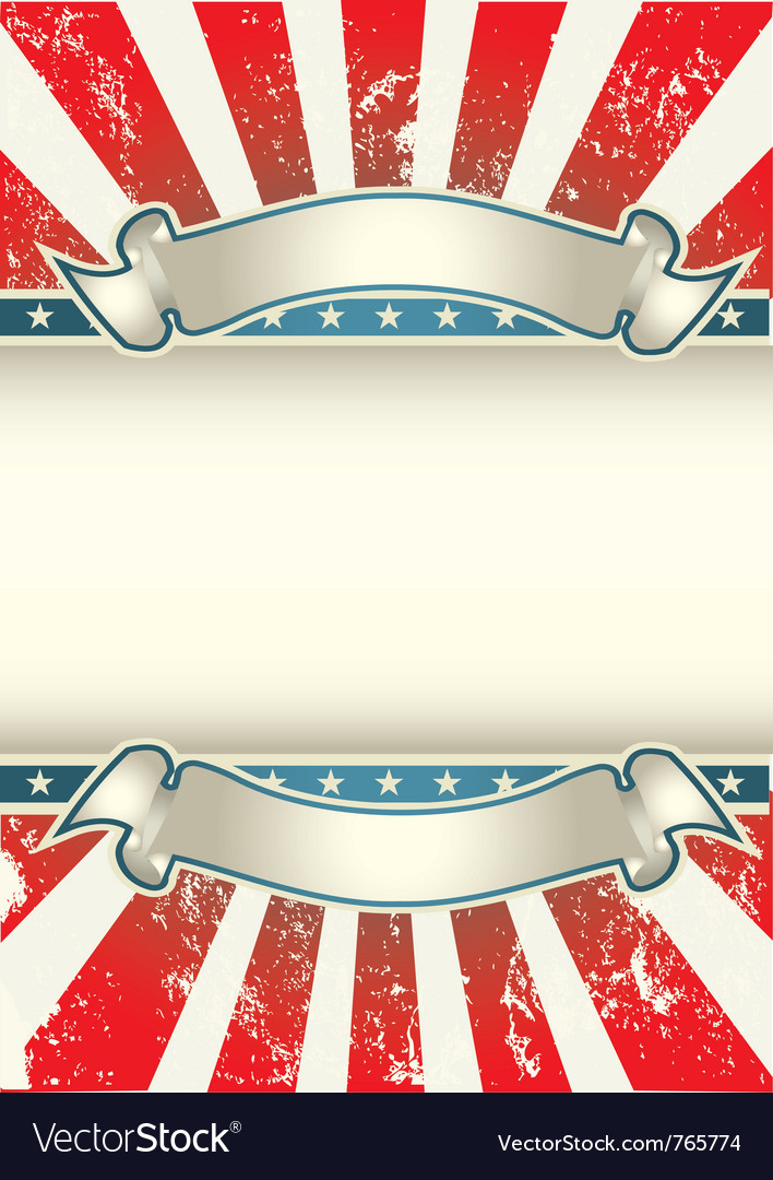 Usa colors poster vector image