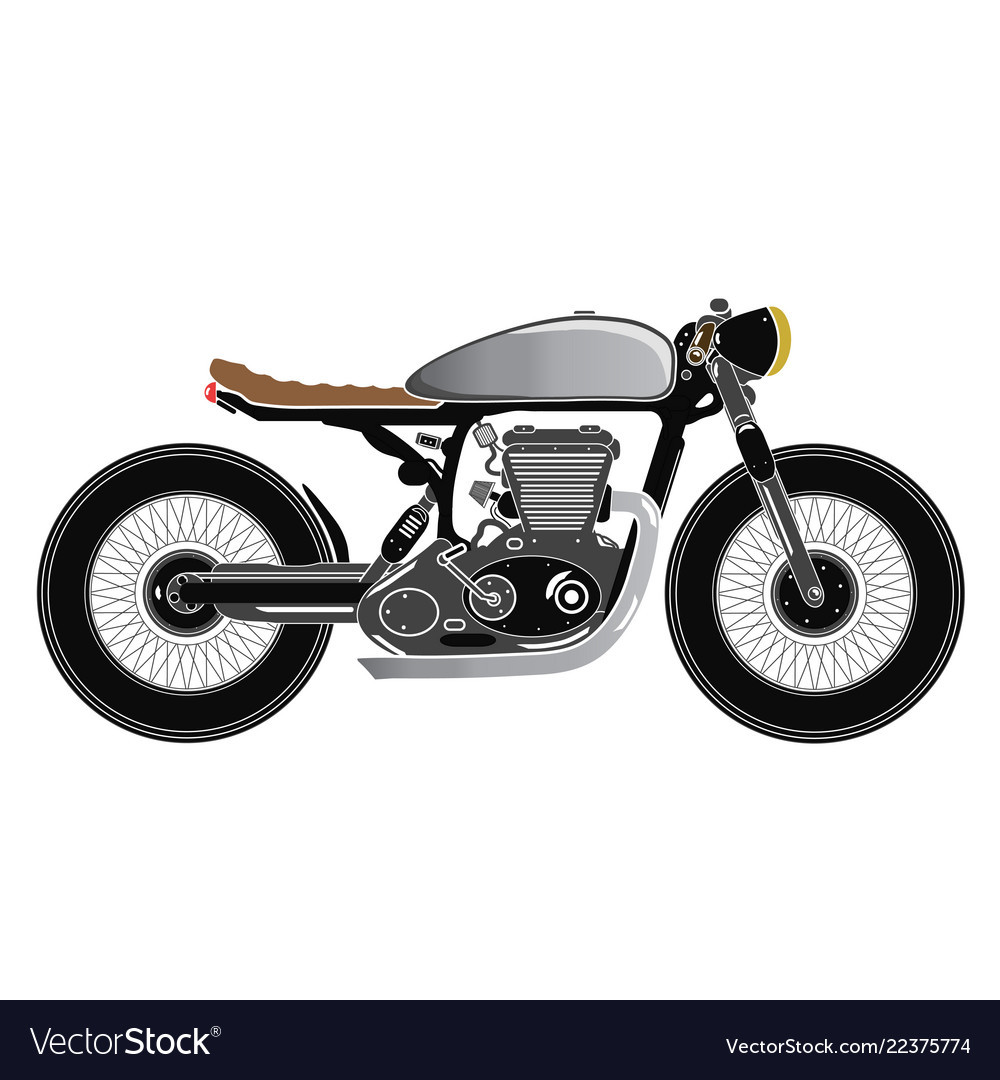 Vintage motorcycle cafe racer theme color