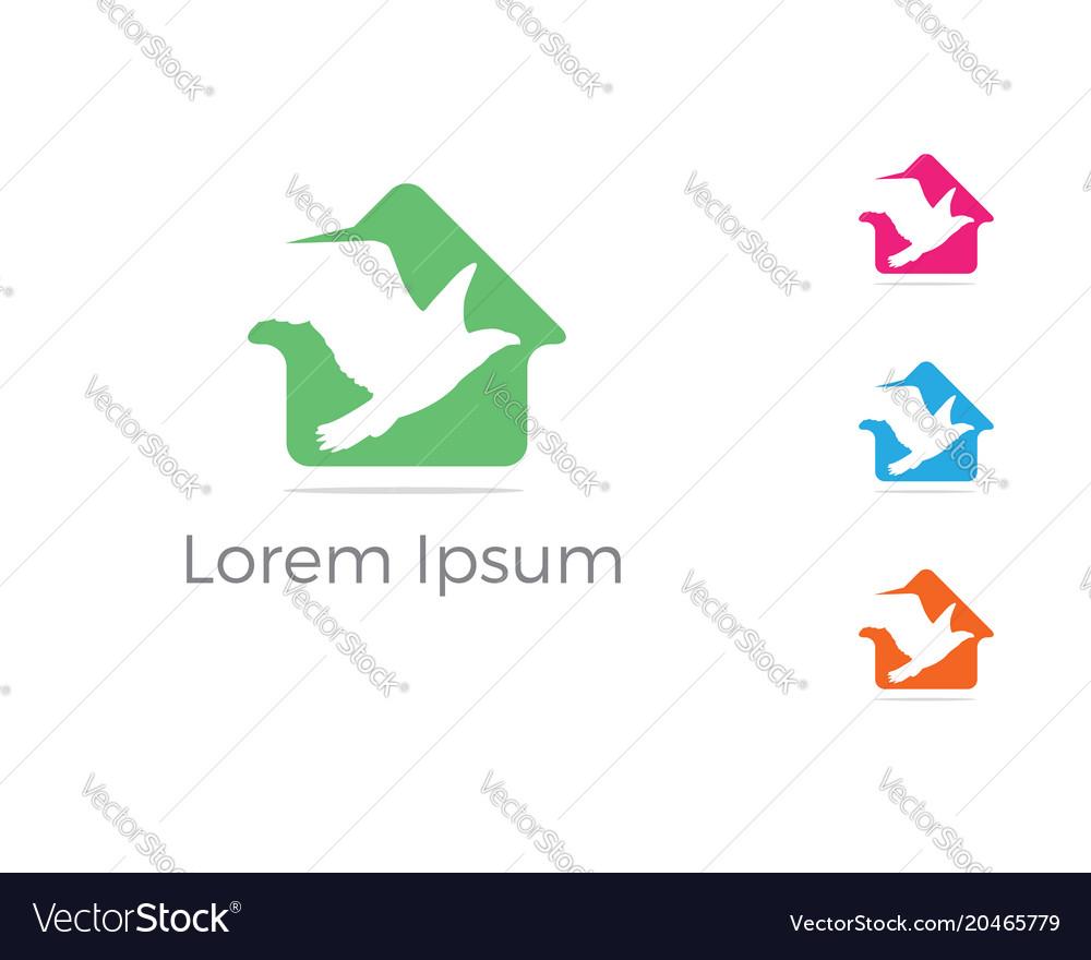 Bird logo design eagle in home