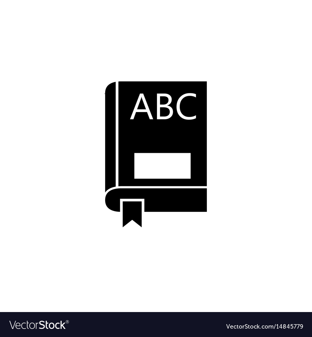 Book solid icon education and school element vector image