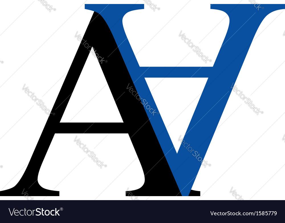 Capital A and N logo