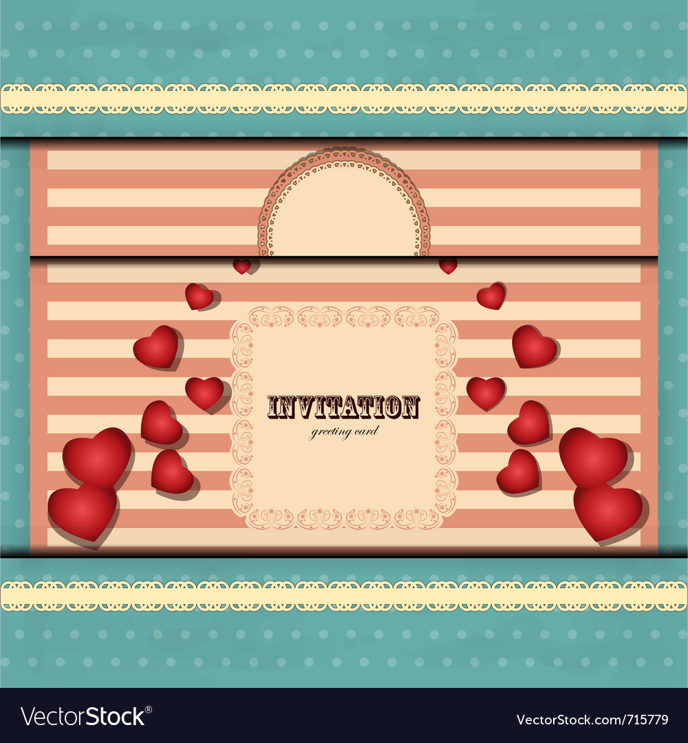 Cards for valentines day in vintage style