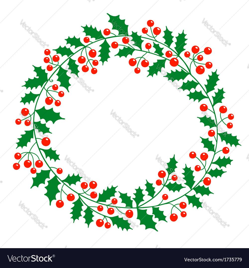 Christmas wreath with place for your text
